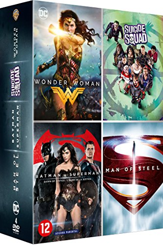 Wonder Woman + Suicide Squad + Batman v Superman : L'Aube de la justice + Man of Steel [Francia] [DVD]