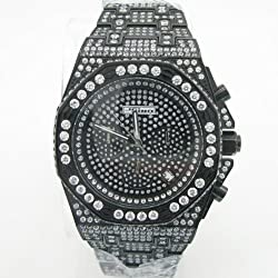 Mens Jojino Fully Iced Out Watch Aqua Master Techno Joe Rodeo Cz Super Mj-8030
