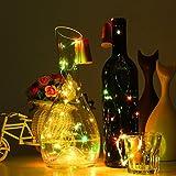 Weinflasche Lampe, ICOCO Kupfer Licht, 15 LED Kork Geformt Cork Shaped LED Nachtlicht, Sternenklar Lichter Kupferdraht Stopper Weinflasche Lampe für DIY, Party Garten Hochzeit (Mehrfarbig, 8Stk)