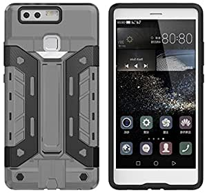 Defender Huawei P9 Shock Proof Case Defense Gear Series, Protective Case w/Drop Shield, Military Grade Drop Tested Case, For Huawei P9 Grey Black