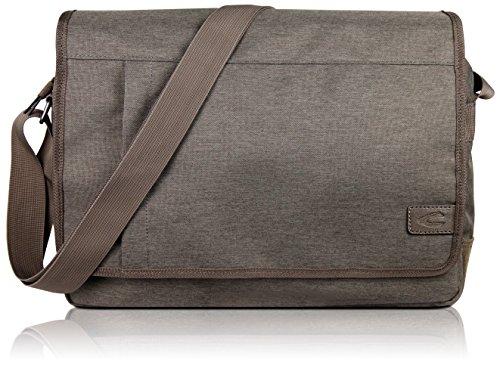 """Camel Active Messenger Bag Umhängetasche für Damen und Herren mit 15"""" Laptopfach, Kuriertasche Schultertasche Herrentasche Laptoptasche, Beige"""