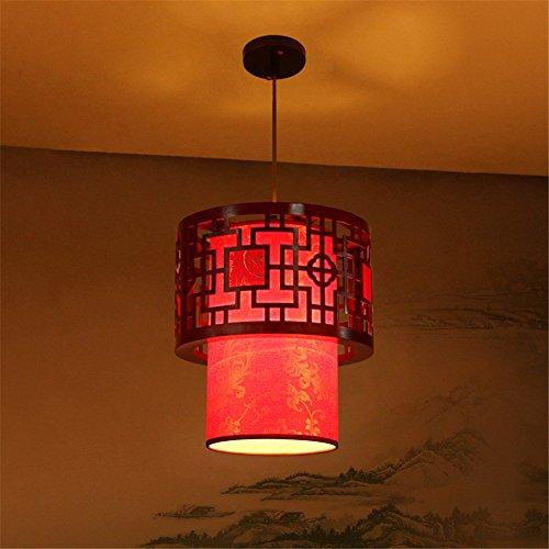 Home uk- antico cinese imitazione pergamena piccolo lampadario corridoio corridoio d'ingresso lampadari classici ( colore : diameter 40cm )