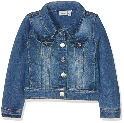 NAME IT Mädchen NITSTAR RIKA DNM Jacket NMT NOOS Jacke, Blau (Medium Blue Denim), 128