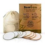 Luxja - Almohadillas de desmaquillado de bambú, lavables