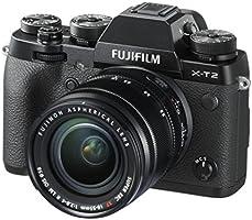 FUJIFILM Kit X-T2 + XF18-55 mm Appareil Photo 24Mpix Noir