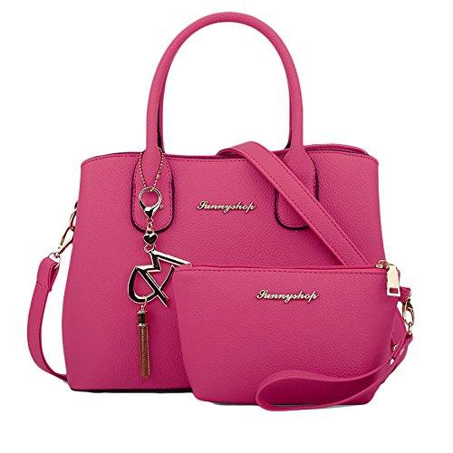 Donna Messenger Bag Borsa a Tracolla tempo libero Borsa Delle Semplice Rose Rose