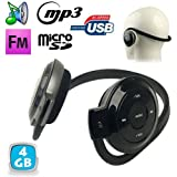 Casque sport lecteur audio MP3 sans fil Radio FM Running 4 Go