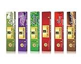 Zed Black Nagchampa Série Sticks Naturelles Parfumées - Lot DE 6 - Fabriqué à partir de Produits naturels à Base de Plantes et - Sticks Huile Parfumée - 10 Sticks par Box- Nag Champa Encens