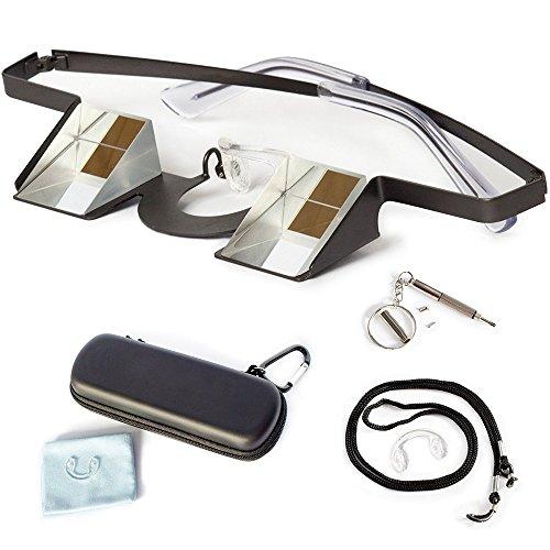 Preisvergleich Produktbild Sicherungsbrille,  Kletterbrille von Igoera (auch mit Brille zu verwenden),  inklusive Sicherungsband,  Werkzeug,  Hülle und Putztuch - Belay-Brille,  Prisma Brille,  Belay-Glasses