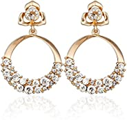 YouBella Jewellery stylish Golden Crystal Gold Plated Earrings for Women