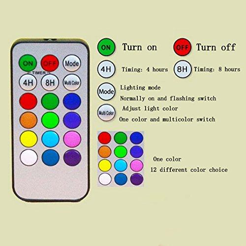AISI 3luces LED Velas sin llama con Mando a distancia y temporizador, velas, funciona con pilas, juego de 3