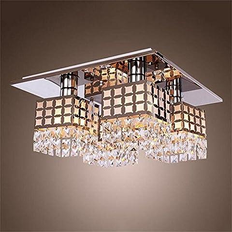 MILUCE Simple Crystal Ceiling Lamp Living Room Bedroom Study Ceiling Lamp Restaurant Lights