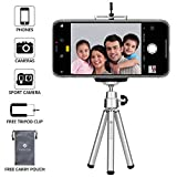 #8: Everycom Extendable Legs 20cm Silver Tripod Stand with Universal Grip Mount for All iPhone and Android Phones