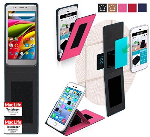 reboon Hülle für Archos 50 Cobalt Tasche Cover Case Bumper | Pink | Testsieger