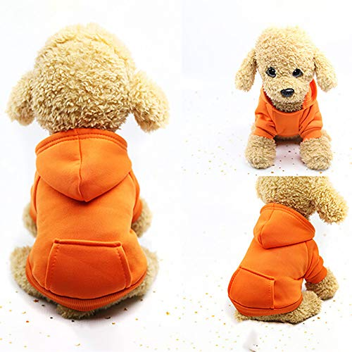 U.Expectating Hundekleidung Hoodie Winter warmen Welpen Mantel Stricken Welpen Pullover (XXL, Orange)
