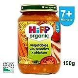 HiPP Organic (BIO) Vegetables with Noodles & Chicken 7+ month 190g - mit Gemüse, Nudeln und Huhn