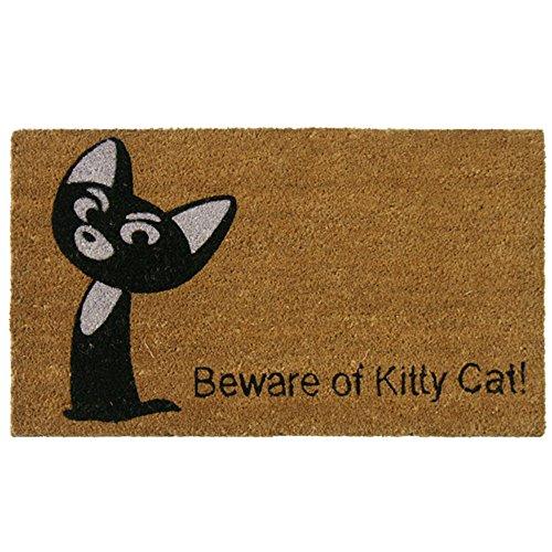rubber-cal-beware-of-kitty-cat-zerbino-animal-zerbini-18-x-762-cm