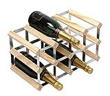 Rta From Samuel Groves Weinregal für 12Flaschen 4x2 Fächer Kiefer/ verzinkter Stahl
