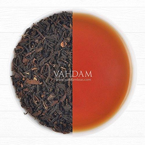 Tè Masala Chai Darjeeling Spice (50 tazze) - Una miscela unica con foglie di tè Darjeeling e cardamomo, cannella, chiodi di garofano e pepe nero freschi - Tè nero speziato indiano