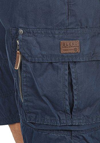 BLEND Gaara Herren Cargo-Shorts kurze Hose mit Taschen aus 100% Baumwolle Navy (70230)