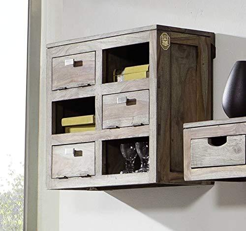 MASSIVMOEBEL24.DE Palisander massiv Holz Wandelement Sheesham Möbel Nature Grey #070