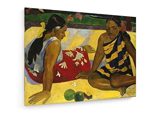 Paul Gauguin - Zwei Frauen auf Tahiti - 1892-100x75 cm - Textil-Leinwandbild auf Keilrahmen - Wand-Bild - Kunst, Gemälde, Foto, Bild auf Leinwand - Alte Meister/Museum