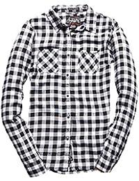 Superdry Damen Hemden Super Classic Boyfriend Shirt