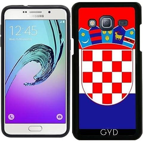 Funda Silicona para Samsung Galaxy J3 2015 (SM-J310) - La Bandera De Croacia by