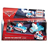 Disney / Pixar CARS TOON 1:55 Scale Die Cast Car Mater The Greater Cannonball Mater 3 Pack With Lug, Buck the Tooth Vendor