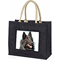 Black Belgian Shepherd 'Love You Mum' Large Black Shopping Bag Christmas Present