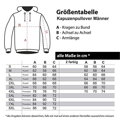 Männer und Herren Kapuzenpullover Wir leben was ihr rappt (mit Rückendruck) Größe S - 8XL Schwarz