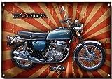 VINTAGE SIGN DESIGNS Honda CB750 four Metall schild - 210mm x 285mm x1mm Platte