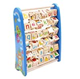 Upstudio Counting Frame, Flap Combination Puzzle Early Education Number Letter Recognition Calculation Frame Beaded Toy(Blue)