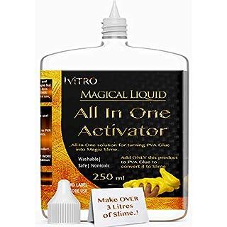 Slime ACTIVATOR Solution Besseres Borax für Slime-Kontaktlinsen-Lösung Alles in EINEM Slime-Aktivator - Fügen Sie NUR PVA-Klebstoff für Slime hinzu - 30 BATCHES oder 3 Liter Slime - 250 ml
