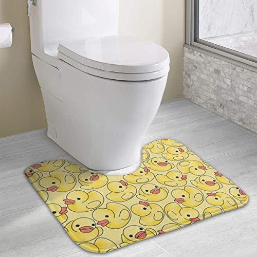 Hoklcvd Gelbe Ente Rutschfeste Kontur Badematte für WC, saugfähiges Wasser, perfekt für Badezimmer. Kaufen Sie online Badematten zu den besten Preisen