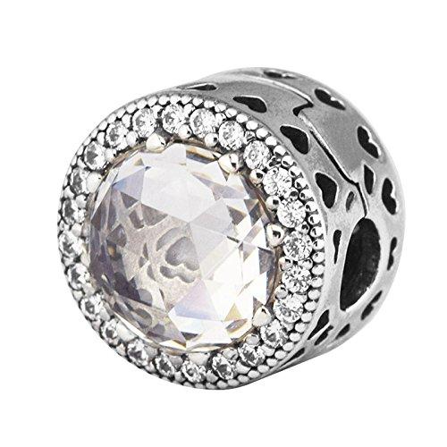 Bakcci autunno europea radiant hearts stopper clip diy adatto per originale pandora braccialetti charm in argento 925la creazione di gioielli