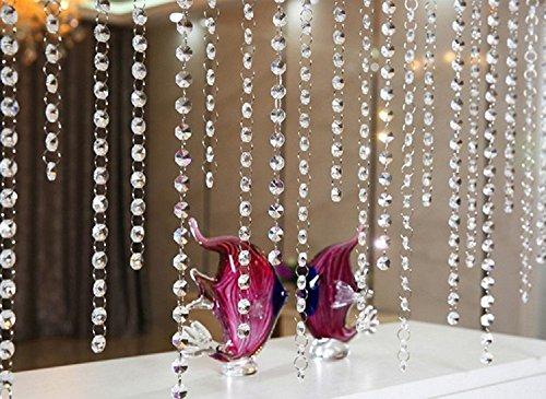 10m Guirnalda con Colgantes de Cristal Acrílico Clear octogonal de ac