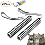 FYNIGO Cat Toys for Indoor Cats,Interactive Chaser Toys for Cats and Dogs,2 in 1 Function,Cat Training Tool for Exercise(2 Pack)