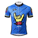 Thriller Rider Sports® Herren Aloha Blue Outdoor Sport MTB Fahrradbekleidung Fahrradtrikot Radsport Kurzarmtrikot Radfahren Trikot X-Large