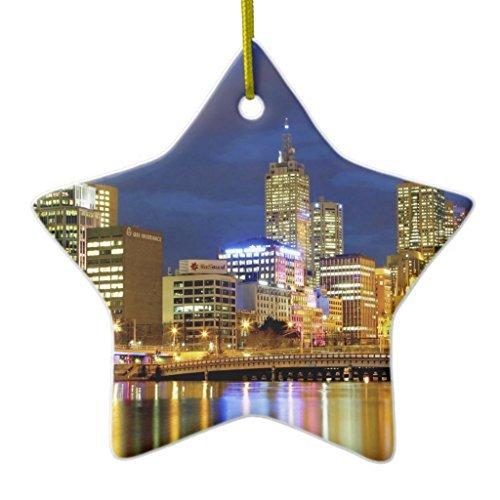 Weihnachtsbaum Dekorationen Melbourne, australia. A nighttime view of the 2Ornament STAR Christmas Ornament Crafts Jahrestag Andenken
