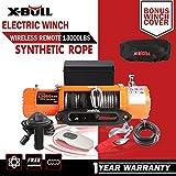 X-BULL 12V Cuerda Sintético Cabestrantes Eléctricos 13000LBS/5900KGS Electric Winch 10m Wireless Recuperación