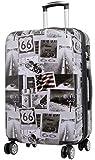 Trendyshop365 City-Koffer Hartschale Amerika 68 Zentimeter 69 Liter 4 Räder Printdesign Zahlenschloss