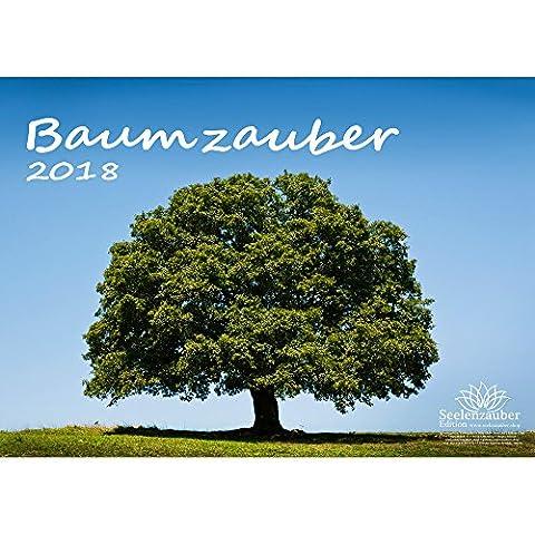 Premium Kalender 2018 · DIN A3 · Baumzauber · Baum · Bäume · Wald · Geschenk-Set mit 1 Grußkarte und 1 Weihnachtskarte · Edition Seelenzauber
