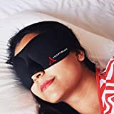 DREAMTIMEJOY 3D Eye Mask/Sleeping Mask Blindfold for Men Women UNISEX EXCELLENT LIGHT Blocker with full eye movement | GENTLE to eye COMFY Luxury and Contoured | Travel Rest Sleep Yoga Meditation Aid | FREE CARRY POUCH AND EARPLUG SET | SATISFACTION GUARANTEED