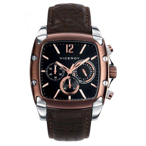 Reloj Viceroy de Hombre. Modelo 47743-55. Esfera cuadrada de color marron