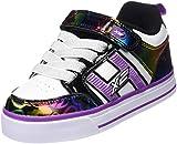 Heelys Unisex Bolt Plus 770571 Lauflernschuhe Sneakers, White/Black/Rainbow Hearts, 36 EU, Mehrfarbig, 31 EU