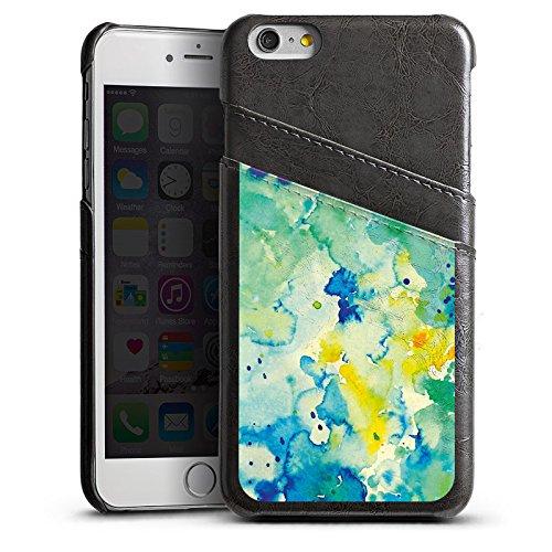 Apple iPhone 5 Housse Outdoor Étui militaire Coque Peinture Tie Dye Batik Automne Étui en cuir gris