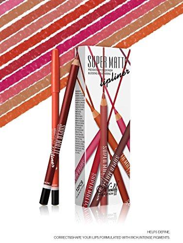 Menow Super Matte Lip Liner Pencil - Set Of 12