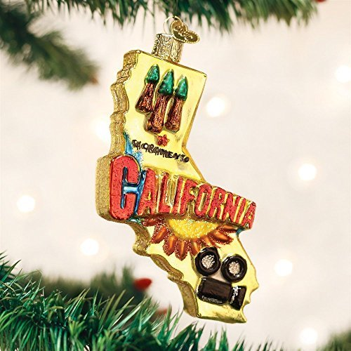 Old World Christmas State Of California Glass Blown Ornament by Old World Christmas