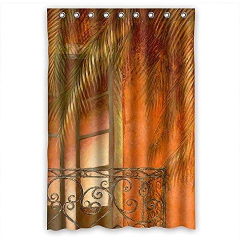 Sunsmiles Rideaux de douche Art de salle de bain drapé Largeur x Hauteur/121,9x 182,9cm/L * H 120par 180cm européens et américains Style Western et Occident Style Art Peinture